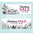 Christmas sale banner hand drawn vector image vector image