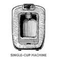 coffee machines vector image vector image