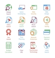 Color Internet Marketing Icons Vol 3 vector image vector image