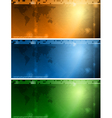 Colourful tech banners vector image vector image
