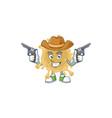 cool cowboy coronavirus particle holding guns vector image vector image