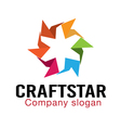 Craft Star Design vector image vector image