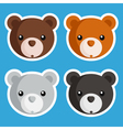 Cute Bear Icons vector image vector image