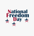 day of national freedom february 1 hanging stars vector image vector image