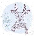 deer with a scarf vector image