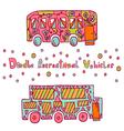 Doodle recreational vehicles-10 vector image