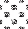 Eyes seamless pattern hand drawn vector image vector image