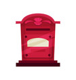 flat icon of vintage wall mounted mailbox vector image vector image