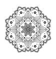 Floral simple mandala vector image vector image