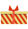 gift box icon flat isolated vector image vector image