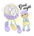 girl dreamcatcher color set vector image vector image