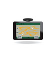 gps navigation system in car vector image vector image