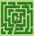 green grass maze isolated on white background vector image