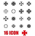 grey choppers crosses icon set vector image vector image