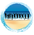 Group of happy people vector image vector image