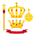 heraldic symbols monarch set royal traditions vector image vector image