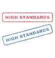 high standards textile stamps vector image vector image