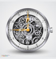 hours of gears vector image vector image