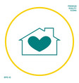 house with heart symbol graphic elements for your vector image vector image