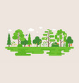 info graphic and elements natural forest vector image