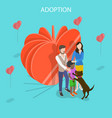 isometric flat concept child adoption vector image