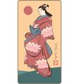 japanese geisha vector image vector image
