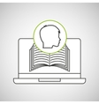 learn online book student head design vector image vector image