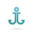 Letter J anchor logo icon design template elements vector image vector image