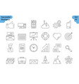 linear icon set 1 - business vector image