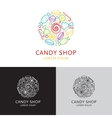 logo of candy shop vector image vector image