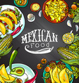 mexican food- on the chalkboard vector image