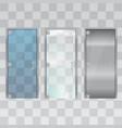 modern glass doors vector image