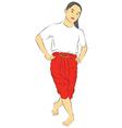 New thai dance vector image
