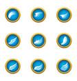 nod icons set flat style vector image