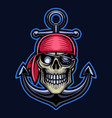 pirates head esport mascot logo vector image