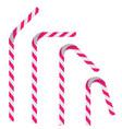 plastic drinking straws vector image vector image