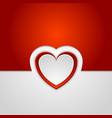 Red romance background with hearts vector image vector image
