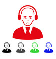 sad call center worker icon vector image vector image