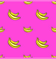 seamless pattern with hand drawn bananas on vector image vector image