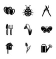 service yard icons set simple style vector image vector image
