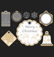 set of assorted new year and christmas gift tags vector image vector image
