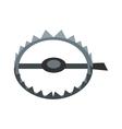 Sharp metal trap icon vector image vector image