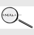 small print magnifying glass vector image
