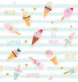summer striped seamless pattern background with vector image vector image