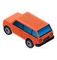Suv car icon isometric style