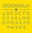 thin line modern font design alphabet vector image vector image