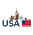 travel to usa new york skyline statue of liberty vector image