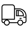 truck line icon lorry vector image