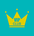 vip club logo in flat style and design vector image vector image