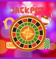 wheel fortune with bets and jackpot casino vector image